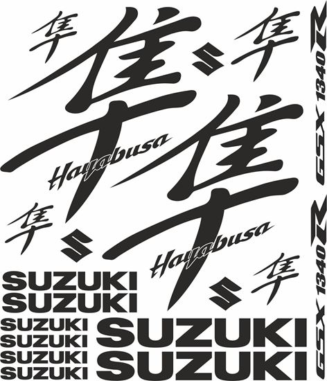 Picture of Hayabusa GSX 1340R 1999 - 2007 Decals / Stickers kit