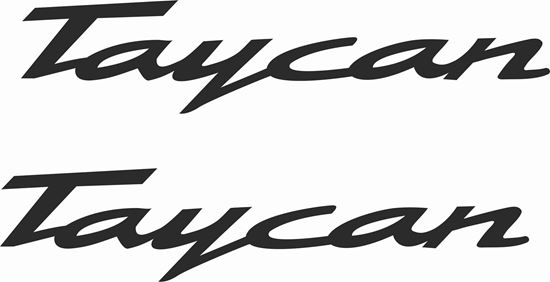 """Picture of Porsche """"Taycan""""  General panel Decals / Stickers"""