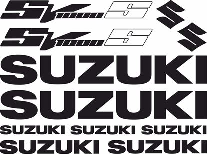 Picture of Suzuki SV1000S Decals / Stickers kit
