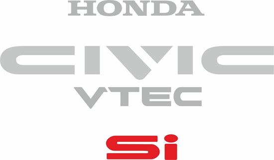 Picture of Honda Civic Si EE9  1987 - 1991 Replacement  rear Decals / Stickers