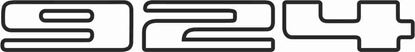 Picture of Porsche  924  Tailgate Replacement decal /sticker