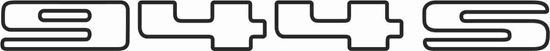Picture of Porsche  944S  Tailgate Replacement decal /sticker