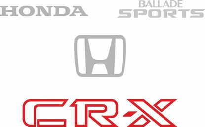 Picture of Honda CR-X EC1 Ballade Sports replacement rear hatch Decals / Stickers