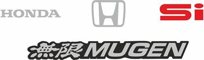Picture of Honda Civic Si EF Mugen 1988 Replacement  rear Decals / Stickers