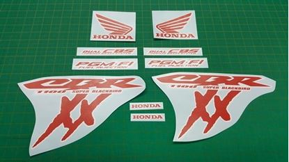 Picture of Honda CBR Blackbird 1100 XX PGM-F1 Custom two colour outline Decals / Stickers