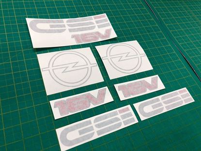 Picture of Opel Kadett E GSi 16 Valve  restoration Decals / Stickers