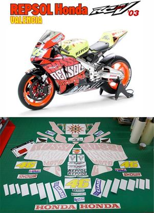 Picture of Honda CBR RC211V 2003 Valencia WSB Repsol super bike replica Decals / Stickers