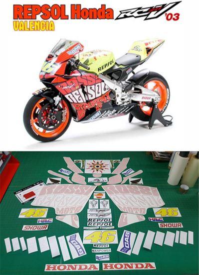 Picture of Honda CBR RC211V 2003 Valencia WSB Repsol super bike replica Decals / Stickers