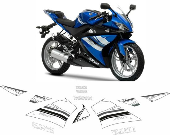 Picture of Yamaha YZF 125R 2009  Replacement Decals / Stickers