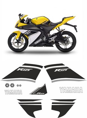 Picture of Yamaha YZF 125R 2008  Replacement Decals / Stickers