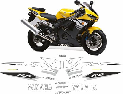 Picture of Yamaha YZF R6 2003 Replacement Decals / Stickers