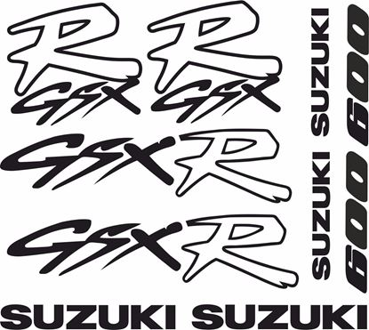 Picture of Suzuki GSX-R 600 1992 - 1996 Decals / Stickers kit