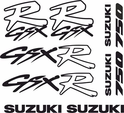 Picture of Suzuki GSX-R 750 1992 - 1996 Decals / Stickers kit