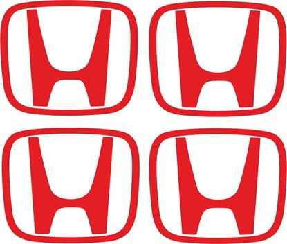 "Picture of Honda Generic Wheel centre cap ""H"" replacement Decals / Stickers"