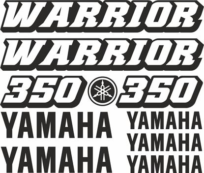 Picture of Yamaha 350 Warrior Decals / Sticker kit