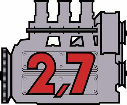 "Picture of Porsche 911 ""2,7"" Engine general panel Decals /  Stickers"