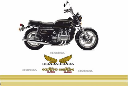 Picture of Honda Goldwing GL1000 Replacement Pin stripes / Decals / Stickers kit