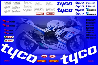 Picture of Suzuki GSX-R 750  2008 Tyco race replica Decals / Stickers kit