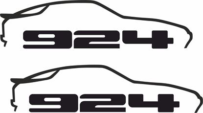 Picture of Porsche  924 decals /stickers