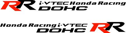 "Picture of Honda Civic / City / Accord /  ""Honda Racing i-Vtec DOHC RR"" Decals / Stickers"