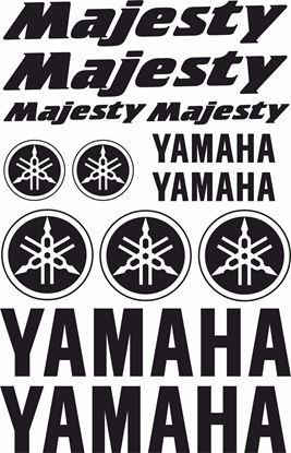 Picture of Yamaha Majesty 125 Decals / Sticker kit