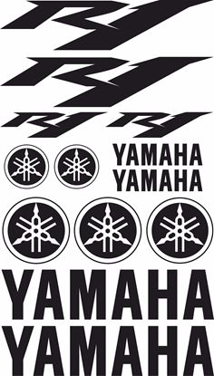 Picture of Yamaha R1 2009 - 2012 Decals / Sticker kit