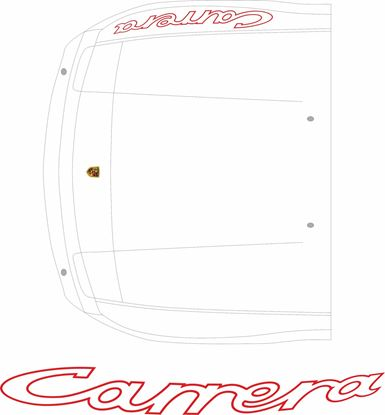 Picture of Porsche  924 Carrera Front wing decal / sticker