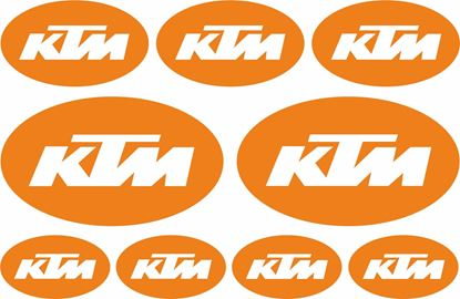 Picture of KTM Oval Decals / Stickers