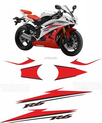 Picture of Yamaha YZF R6 2007 - 2008 Replacement Decals / Stickers