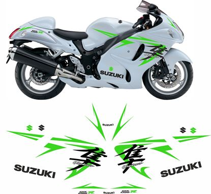 Picture of Suzuki GSX 1300R  Hayabusa 2008 - 2009 Custom colour Decals / Stickers