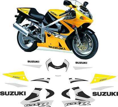 Picture of Suzuki GSX-R 750 K1 2002 - 2005 replacement Decals / Stickers