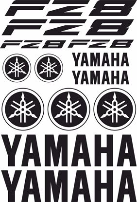 Picture of Yamaha Fazer FZ8 Decals / Sticker kit