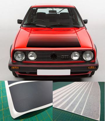 Picture of MK2  Golf  / Jetta Bonnet fade Stripes / Sticker,  Textured Protection Vinyl