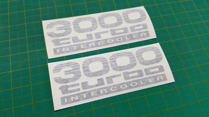 "Picture of Toyota Prado / Land Cruiser  90 / 120 series ""3000  Turbo Intercooler"" side replacement Decals / Stickers"