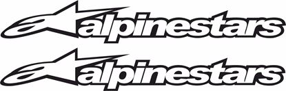 "Picture of ""Alpinestars"" Track and street race sponsor logo"