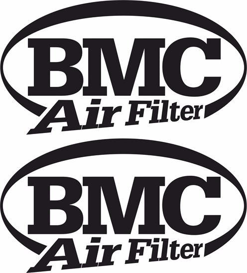 """Picture of """"BMC Air Filters"""" Track and street race sponsor logo"""