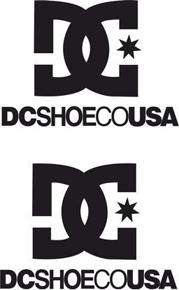 "Picture of ""DC SHOE CO USA"" Track and street race sponsor logo"