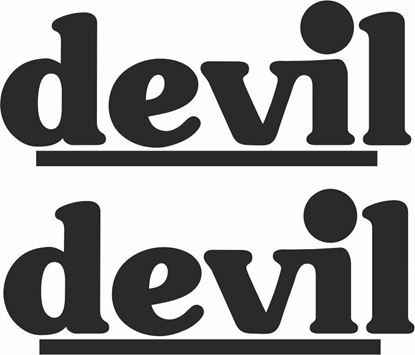 "Picture of ""Devil"" Track and street race sponsor logo"
