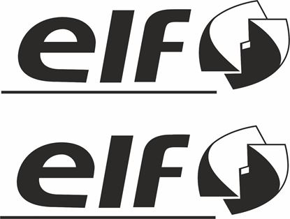 """Picture of """"Elf"""" Track and street race sponsor logo"""
