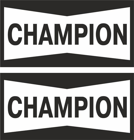 """Picture of """"Champion"""" Track and street race sponsor logo"""