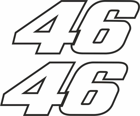 """Picture of """"Rossi 46"""" Track and street race sponsor logo"""