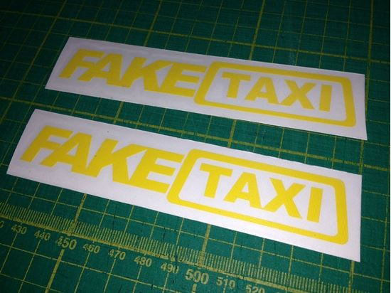 Picture of Fake Taxi Decals / Stickers