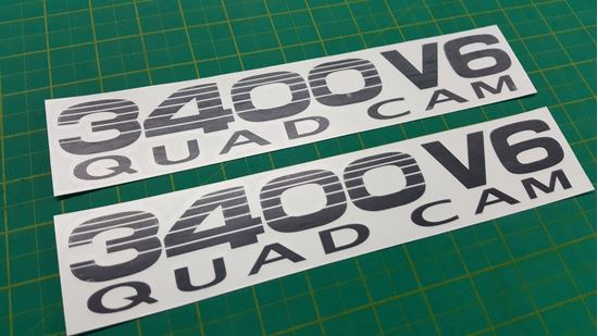 """Picture of Toyota Prado / Land Cruiser 90 Series """"3400 V6""""side replacement Decals / Stickers"""