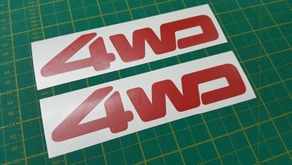 Picture of Daihatsu Hijet S80 pick up replacement 4WD Decals / Stickers