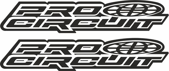 """Picture of """"Pro Circuit"""" Track and street race sponsor logo"""