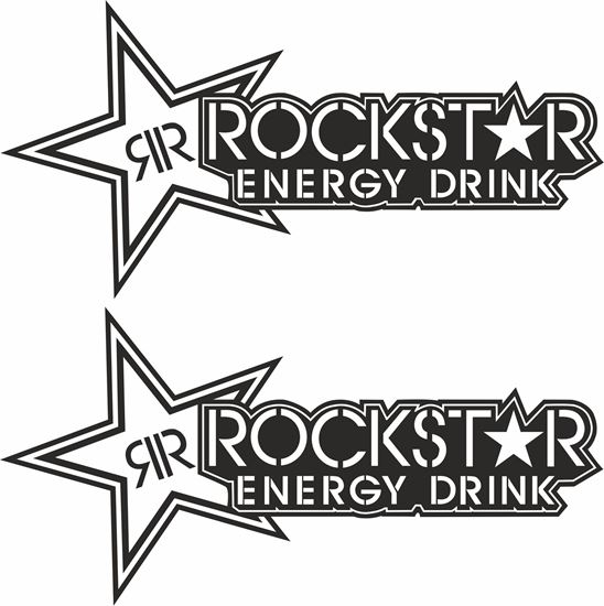 """Picture of """"Rockstar Energy Drink"""" Track and street race sponsor logo"""