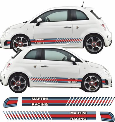 Picture of Fiat  500 / 595 Abarth Martini Side Stripes / Stickers