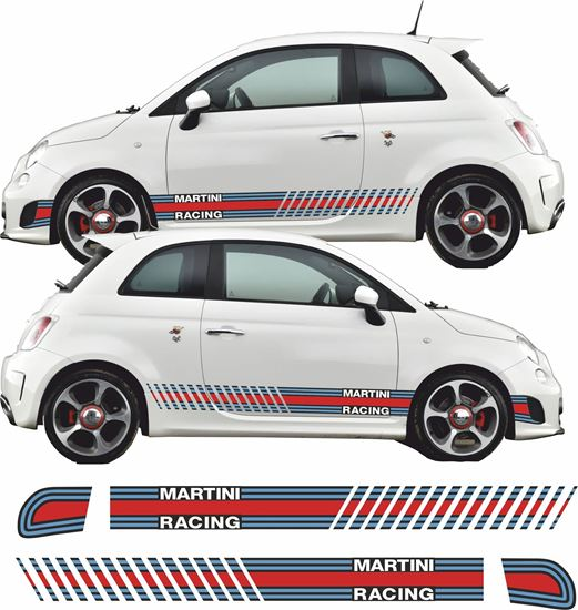 Picture of Fiat  500 / 595 Abarth Martini Side Stripes / Stickers