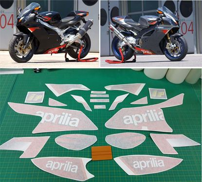 Picture of Aprilia RSV Mille 1000R 2004 replacement Decals / Stickers