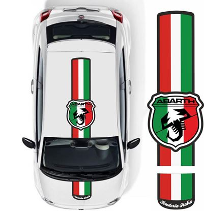 "Picture of Fiat 500 / 595 ""Abarth Scuderia Italia"" Over the top Stripes / Stickers"